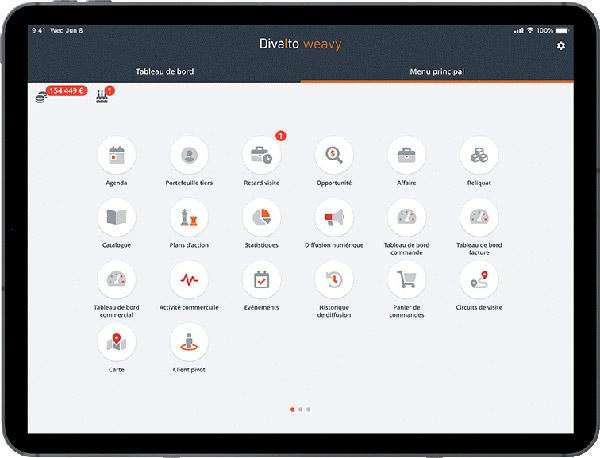 Divalto Weavy logiciel crm mobile